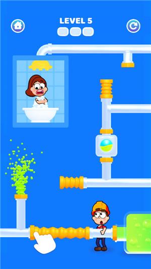浴室水管工