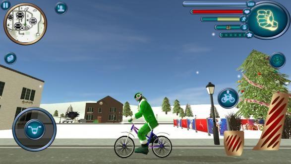 圣诞老人绳索英雄模拟器无限金币