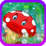 温和的红蘑菇逃生